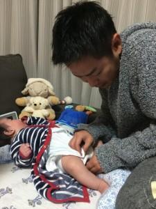 清水健アナウンサーと子供